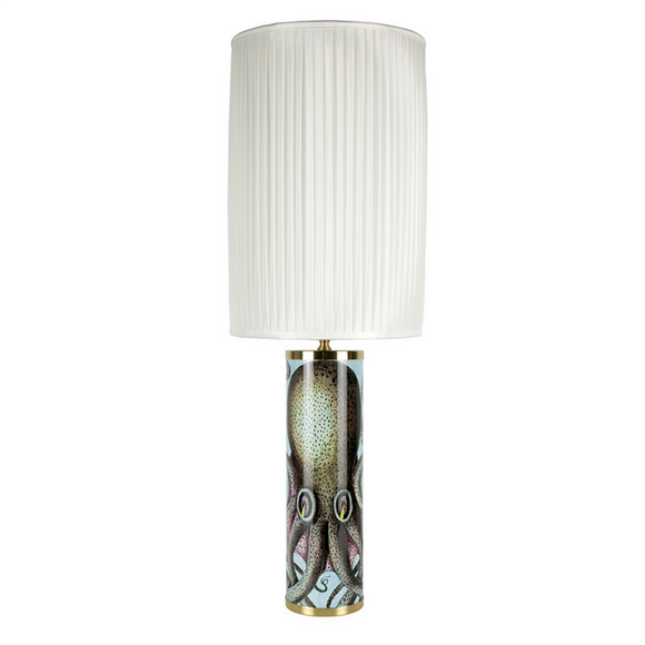 Fornasetti Cylindrical lamp base Octopus colour - Milk Concept Boutique