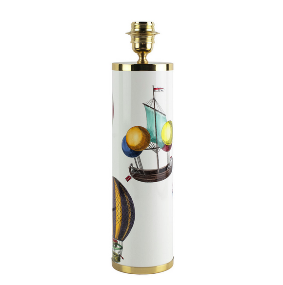 Fornasetti Cylindrical lamp base Palloni colour/white - Milk Concept Boutique