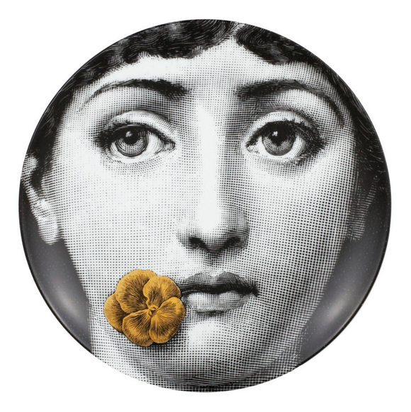 Fornasetti Wall Plate T&V 137 gold - Milk Concept Boutique