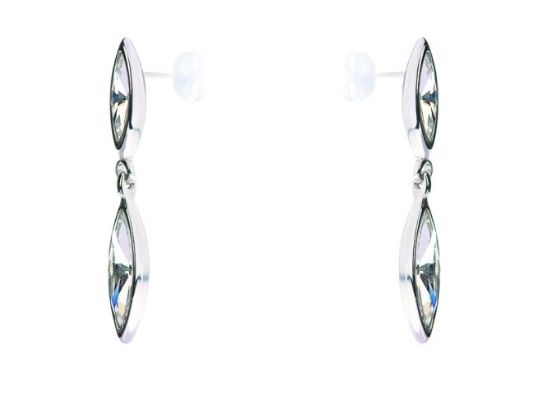 Minerva Navette Crystal drop earring - Milk Concept Boutique