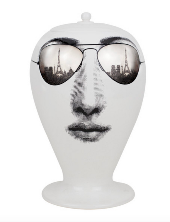 Fornasetti Vase Paris Tour black/white/platinum