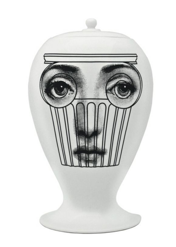 Fornasetti Vase Capitello black/white