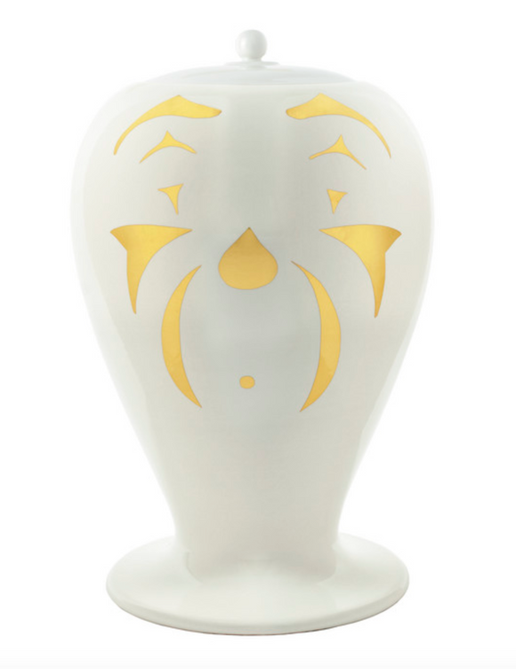 Fornasetti Maxi Vase Clown black/white/gold
