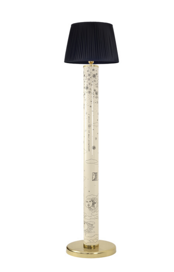 Fornasetti floor lamp Solitario black on ivory - Milk Concept Boutique