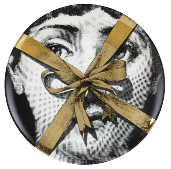 Fornasetti  wall plate T&V 171 gold - Milk Concept Boutique
