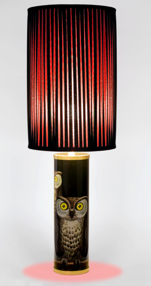 Fornasetti Silk pleated lampshade, black/red - Milk Concept Boutique