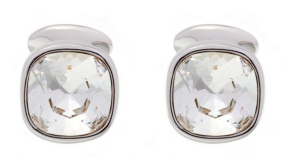 Simon Harrison Lauren Cufflink - Clear & Black - Milk Concept Boutique