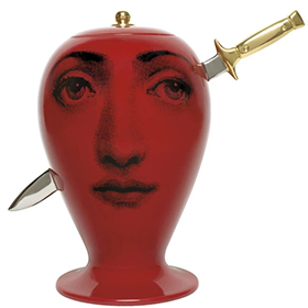 Fornasetti Vase Don Giovanni Dagger red/black/gold - Milk Concept Boutique