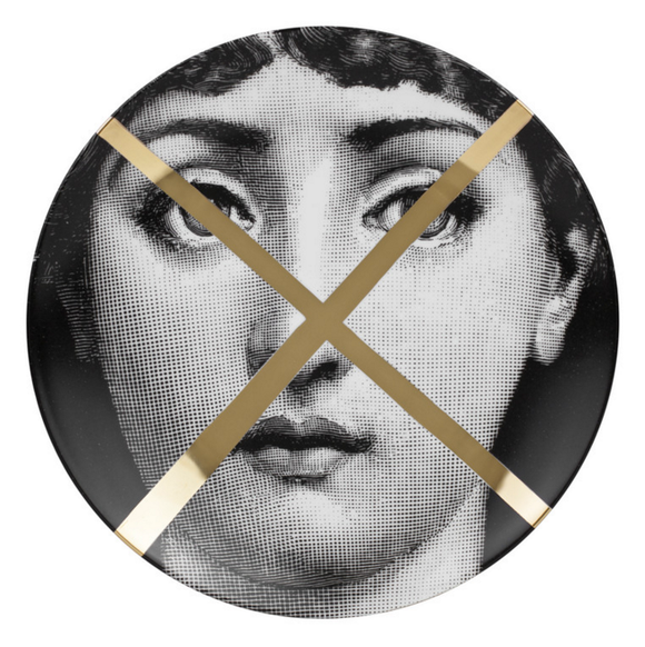Fornasetti Wall Plate T&V 30 Gold - Milk Concept Boutique