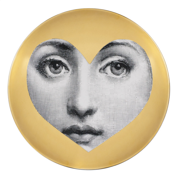 Fornasetti Wall Plate T&V 41 Gold - Milk Concept Boutique