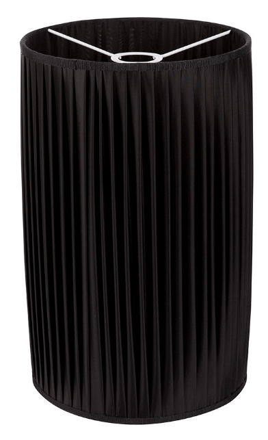 Fornasetti Cylindrical pleated lampshade black - Milk Concept Boutique