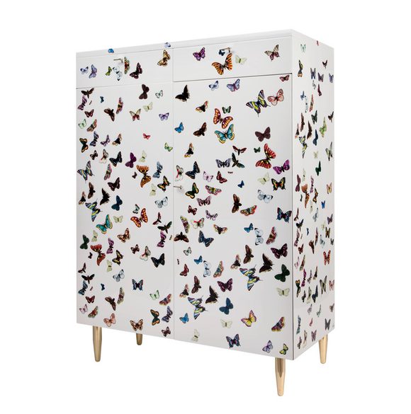 Fornasetti Cabinet Farfalle on white - Milk Concept Boutique