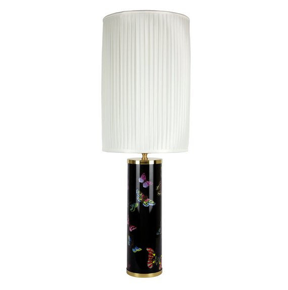 Fornasetti Silk pleated lampshade, white