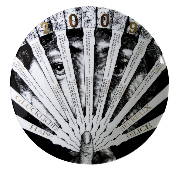 Fornasetti Calendar Plate 2009 black/white/gold - Milk Concept Boutique