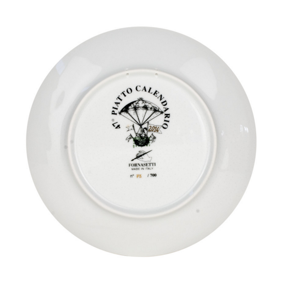 Fornasetti Calendar Plate 2014 black/white/gold - Milk Concept Boutique