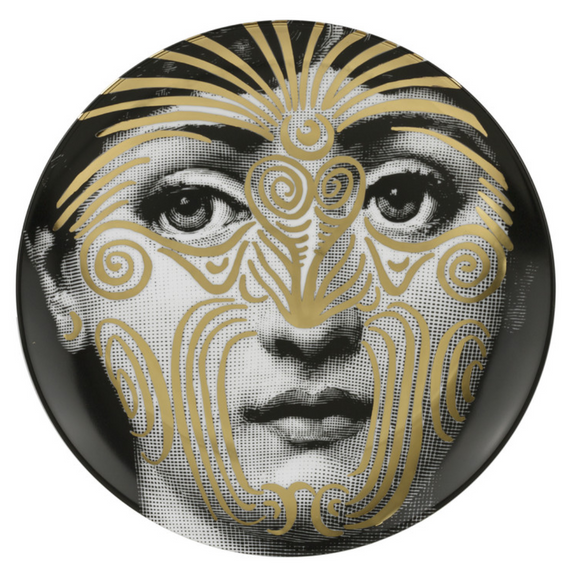 Fornasetti Wall Plate T&V 9 gold - Milk Concept Boutique