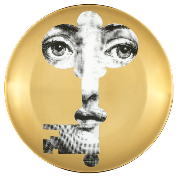 Fornasetti Wall Plate T&V 47 gold - Milk Concept Boutique
