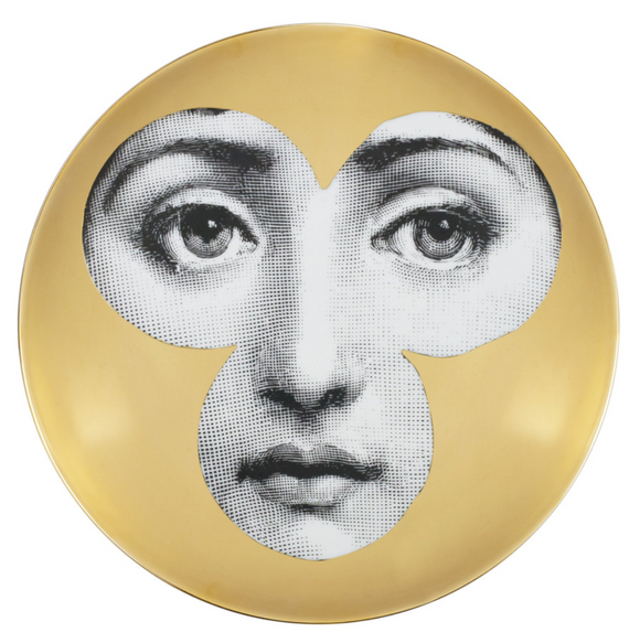 Fornasetti Wall Plate T&V 71 gold - Milk Concept Boutique
