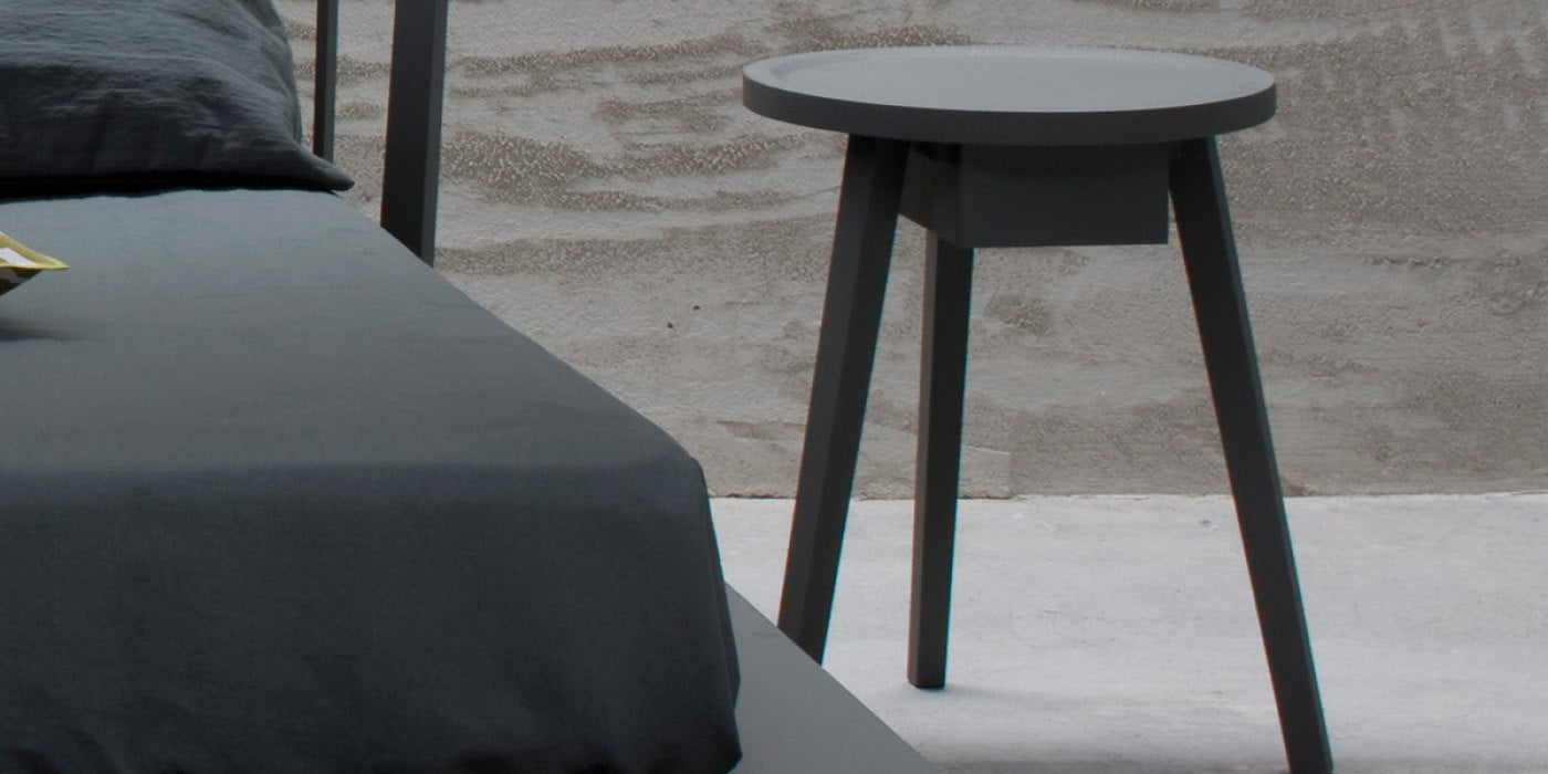 Gervasoni Gray Night Table Milk Concept Boutique