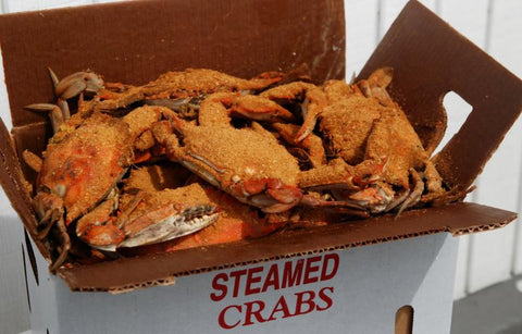 Steamed Blue Crabs 1/2 Bushel and Full Bushel