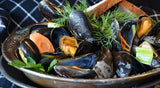 New England Seafood Feast- (4) 1-1.15 Fresh Steamed Maine Lobsters- (2 lbs) 10-20 Ct New England Dry Scallops- (2 lbs) Cooked Prince Edward Island Blue Mussels Frozen