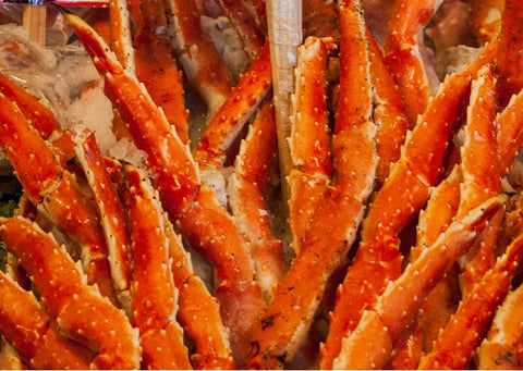(20 lb) Case of Red King Crab Legs- 14-17 Count Per Lbs