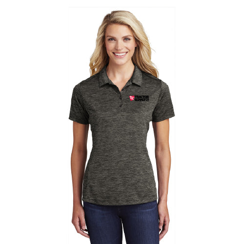 LST590 Ladies Sport-Tek Electric Heather Polo