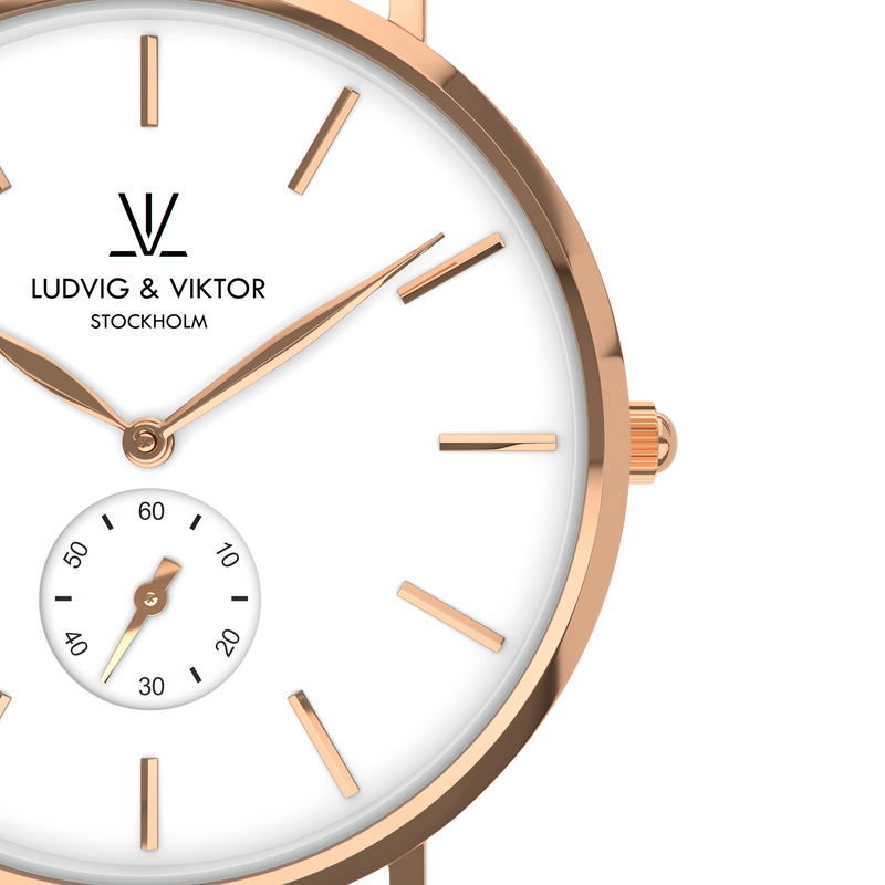 La Suède Rose Gold White/Light Pink Leather