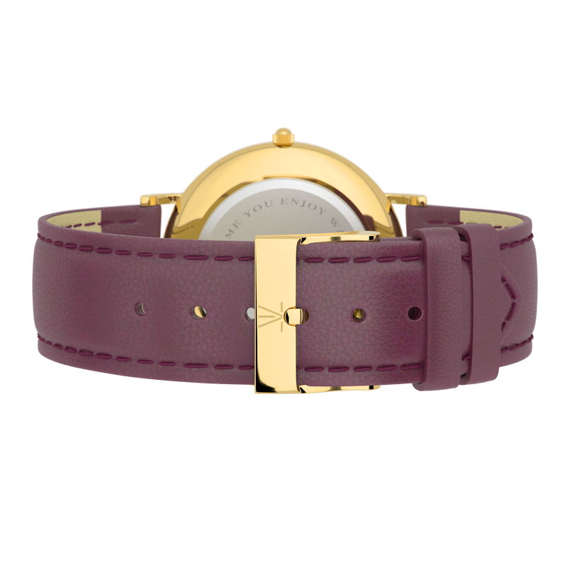 Purple Leather Strap