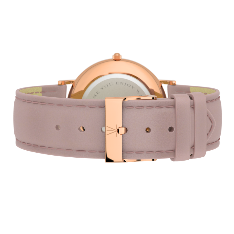 Light Pink Leather Strap