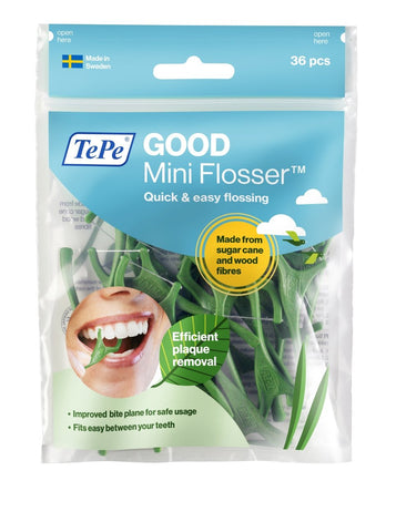 LATEST! TePe GOOD Mini Flosser pack of 36's