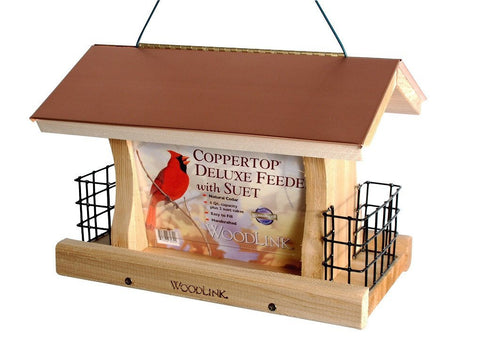 Woodlink Coppertop Ranch Feeder with Suet Cages