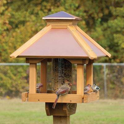 Woodlink Coppertop® Wood Gazebo Feeder
