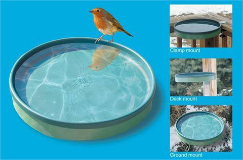 Heated Bird Bath w/Deck Mount Green/Light Green