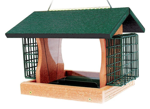 Woodlink Eco-Friendly Bird Feeder with Suet Cages