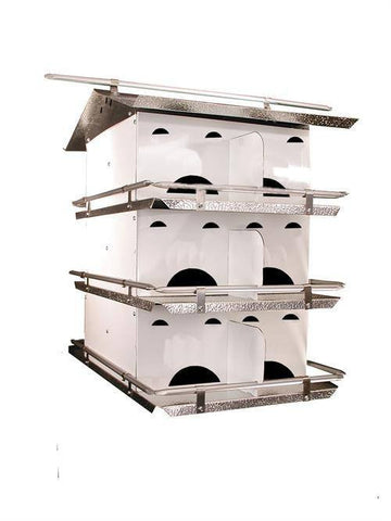 Starling Resistant 3 Floor-12 Room Purple Martin House