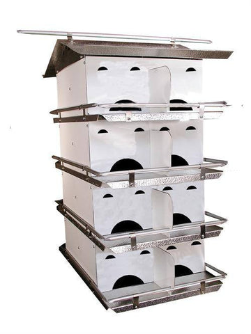 Starling Resistant 4 Floor-16 Room Purple Martin House