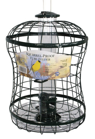 Woodlink Caged Tube Bird Feeder