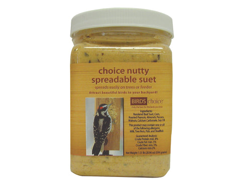 Birds Choice NUTTY SPREADABLE SUET - 8 Pack