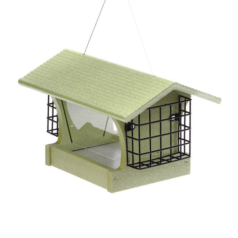 Birds Choice GREEN SOLUTIONS HOPPER FEEDER WITH SUETS - 3 QUART