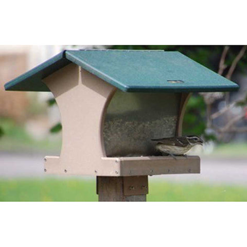 Birds Choice #SN200 Recycled 4 Quart 2-Sided Hopper Feeder