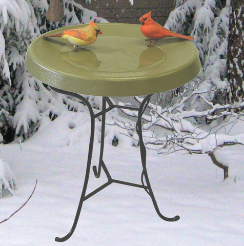 Heated Birdbath Metal Tripod Base