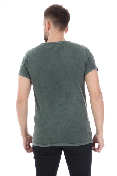 Green Stone Washed Star Class 1977 Printed Cotton T-shirt