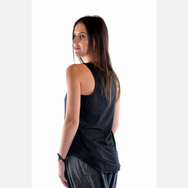Anthracite Shinny Feather Cotton Women Vest - S-Ponder Shop