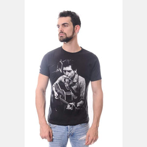 Black Bob Dylan Printed Cotton Men Unisex T-Shirt Tee Top S-PONDER