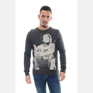 Black Bob Marley Printed Cotton Men Unisex Sweatshirt S-PONDER