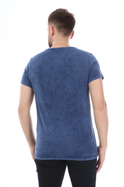 Blue Stone Washed Star Class 1977 Printed Cotton T-shirt