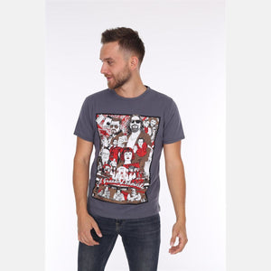 Grey Big Lebowskiy Printed Cotton T-shirt - S-Ponder Shop -