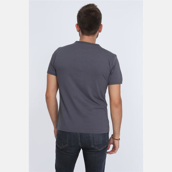 Grey Never Enough (Irony) Printed Cotton T-shirt - S-Ponder Shop