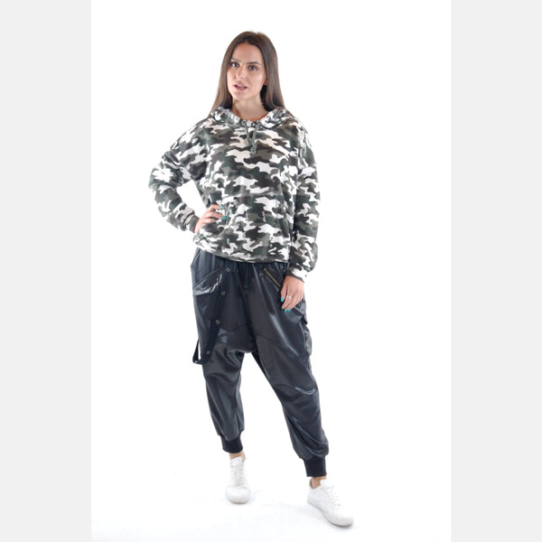Light Camouflage Boyfriend Cut Cotton Hoodie - S-Ponder Shop
